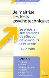 Je maîtrise les tests psychotechniques