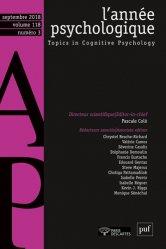 L'année psychologique Volume 118