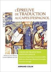L'épreuve de traduction au Capes d'espagnol - Choix de traduction