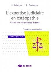 L'expertise judiciaire en ostéopathie