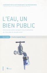 L'eau, un bien public