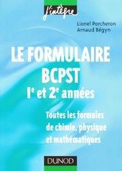 Le formulaire BCPST 1ère et 2ème années
