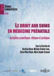 Le droit aux soins en médecine prénatale