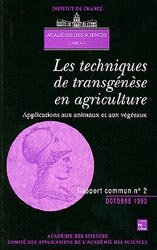 Les techniques de transgénèse en agriculture