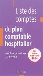 Liste des comptes du plan comptable hospitalier