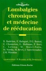Lombalgies chroniques et médecine de rééducation