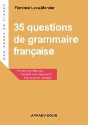 35 questions de grammaire francaise