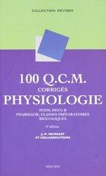 100 QCM corrigés Physiologie
