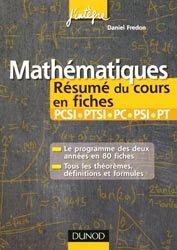 Mathématiques : Résumés du cours PCSI - PTSI, PC - PSI - PT