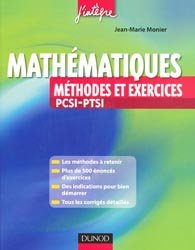 Mathématiques - Méthodes et Exercices PCSI-PTSI
