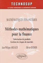 Méthodes mathématiques pour la finance