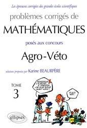 problemes corrigés mathématique agro-véto t3