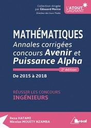 Mathématiques - Annales corrigées concours Avenir et Puissance Alpha