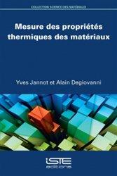 Mesure des propriétés thermiques des matériaux