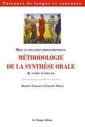 METHODOLOGIE SYNTHESE ORALE AU CAPES