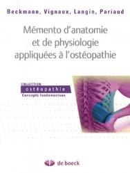 Memento d'anatomie et de physiologie appliquées à l'ostéopathie