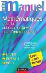 Mini manuel de mathématiques pour les sciences de la vie et de l'environnement