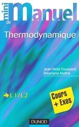 Mini manuel de Thermodynamique