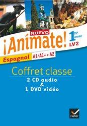 Nuevo Animate 1re année LV2 : Coffret 2 CD Audio-Classe et 1 DVD vidéo