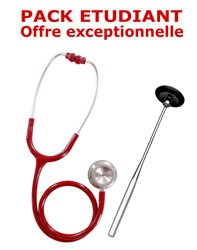 PACK ETUDIANT - Stéthoscope Magister + Marteau réflex Spengler ADULTE - ROUGE