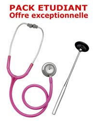 PACK ETUDIANT - Stéthoscope Magister + Marteau réflex Spengler ADULTE - ROSE