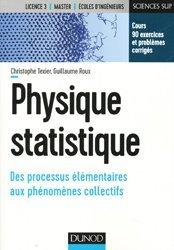 Physique statistique - Cours et exercices corrigés