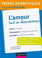 Prépas Scientifiques Programme 2018-2019 - L'Amour Tout en Dissertations