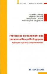 Protocoles de traitement des personnalités pathologiques