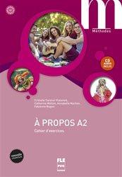 PROPOS A2 CAHIER EXERCICES + CD