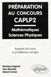 Préparation au concours CAPLP2
