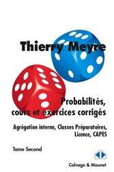 Probabilités, cours et exercices corrigés
