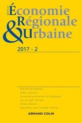 Revue d'économie régionale et urbaine nº 2/2017 Varia