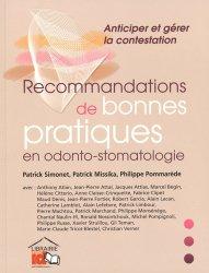 Recommandations de bonnes pratiques en odonto-stomatologie
