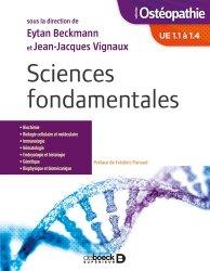 Sciences fondamentales UE1.1 a 1.4