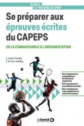 Se préparer aux épreuves écrites du CAPEPS