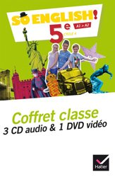 So English! 5e (2017) : Coffret Classe 3CD Audio et 1 DVD Vidéo