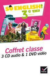 So English! 3e (2017) : Coffret Classe 3 CD Audio et 1 DVD Vidéo