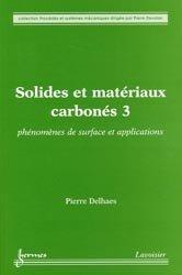 Solides et matériaux carbonés 3