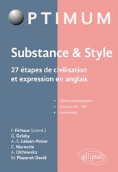 Substance & style : 27 étapes de civilisation et expression en anglais