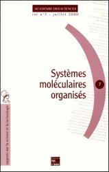 Systèmes moléculaires organisés