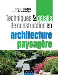 Techniques et détails de construction en architecture paysagère