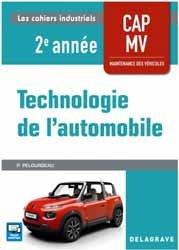 Technologie automobile CAP maintenance véhicules 2e année - Pochette élève