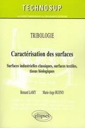 Tribologie - Caractérisation des surfaces