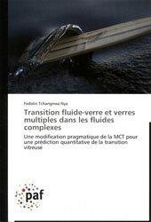 Transition fluide-verre et verres multiples dans les fluides complexes