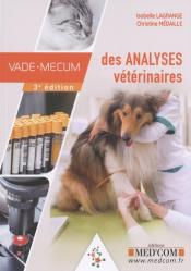 Vade-mecum des analyses vétérinaires