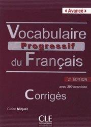 VOCABULAIRE PROGRESSIF AVANCE 2 CORRIGE