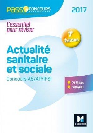 Actualité sanitaire et sociale - AS- AP-IFSI 2017 - foucher - 9782216141616