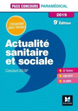 Actualité sanitaire et sociale - AS-AP 2019-foucher-9782216153305