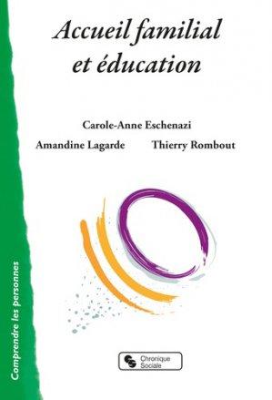 Accueil familial et éducation - chronique sociale - 9782367175881