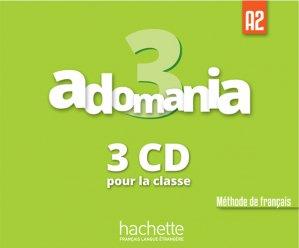 Adomania 3 : CD audio classe - hachette français langue etrangère - 3095561961829